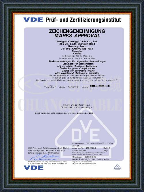 Single core Certificate